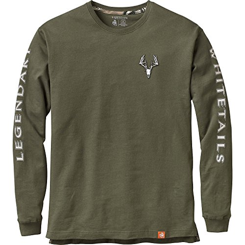 Legendary Whitetails Men's Non-Typical Series Long Sleeve T-Shirt Army Large