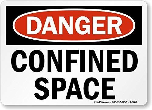 MNUT Plaque métallique en Aluminium 20,3 x 30,5 cm pour clôture, Garage, sécurité, Espace confini, Noir, Rouge sur Blanc, Panneau de sécurité en métal pour Animal Domestique, Cadeau