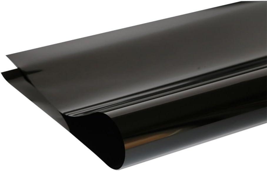 Pegatina protectora solar para ventanas en color negro opaco, tinte antiUV, a prueba de ralladuras, para casas, privacidad en los edificios de ...