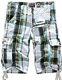 Menschwear Pantalón corto - cargo - para hombre DK12 White X-Large