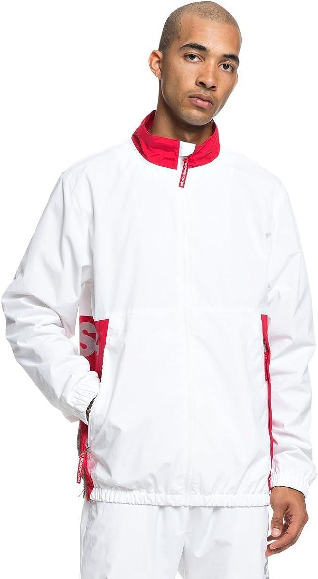 DC Mens Skate Track Top White Jacket Size