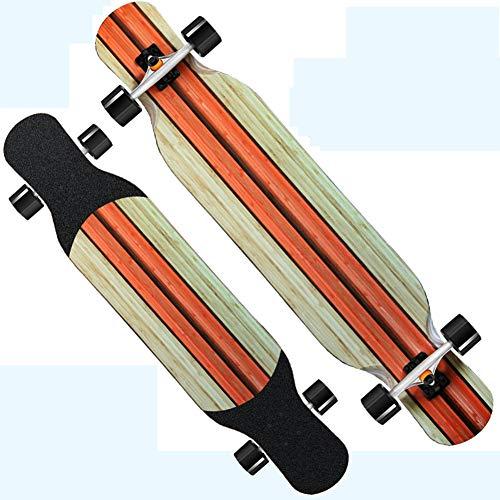NENGGE beginners lange skateboards, professionele klassieke longboards 6 lagen decks, premium straight-out freestyle longboard skateboard