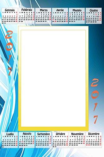 Calendario Personalizado 2017con 1foto, Art.356, tamaño 30x 45completo de encuadernar y Gancino de pared.