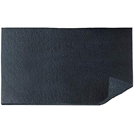 WENKO Filtre de hotte anti-odeur à charbon actif - Filtre pour hottes d'aspiration contre les odeurs de cuisine, Polyester, 57 x 47 cm, Noir