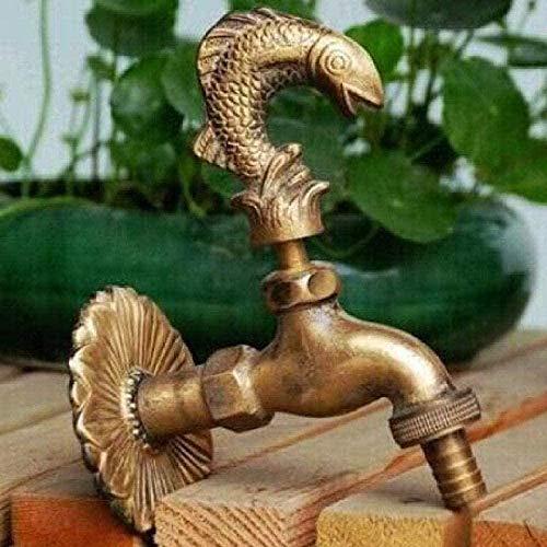 BEISUOSIBYW Co.,Ltd Grifo de jardín Grifo Decorativo Grifo de jardín en Forma de Animal Rural con Grifo de Bronce Antiguo para Lavado de jardín