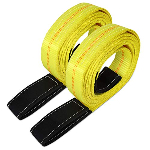 Dooke 2 Pack 6' x 2' Lift Sling Straps for Construction 10,000 Pound Capacity