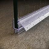 SUNNY SHOWER Fit 3/8' Glass Frameless Shower Door Seal, 28' Length