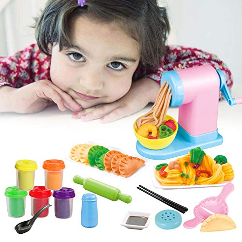 Bagalqio Swide Kit de máquinas para Hacer Pasta para niños Los niños pequeños juegan Juegos de Masa para bebés Cocina Creativa Noodle Intelligence DIY Juguetes para niños Conventional Noble
