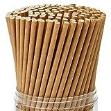 Keriber 350 Piezas Pajitas de papel Kraft marrón Pajita biodegradable con pajas de beber a granel de calidad superior Decoraciones para artículos de boda y regalos para fiestas