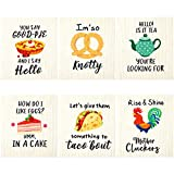 Funny Kitchen Swedish Kitchen Dishcloths Reusable Kitchen Cleaning Cloth Absorbent Swedish Towel Quick Drying Dish Towels for Fast Cleaning Wipe (6 Pieces)