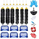JoyBros 23-Pack Replacement Parts Compatible for iRobot Roomba Accessories 600 Series 690 680 660 651 650& 595 585 564 552 Filter Brush Roller Front Caster Wheel Replenishment Kit…