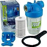 Vorfilter Nachfilter 5' Anschluss 1' Hauswasserwerk Gartenpumpe Wasserfilter m. Filtereinsatz...