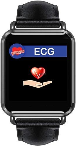 MCJL Bracelet Fitness avec Moniteur de fréquence voiturediaque, ECG + PPG étanche IP67 HRV Rapport de la Tension artérielle Test de fréquence voiturediaque