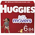 HUGGIES Baby Diapers Little Movers, White, Size 6 , 84 Count