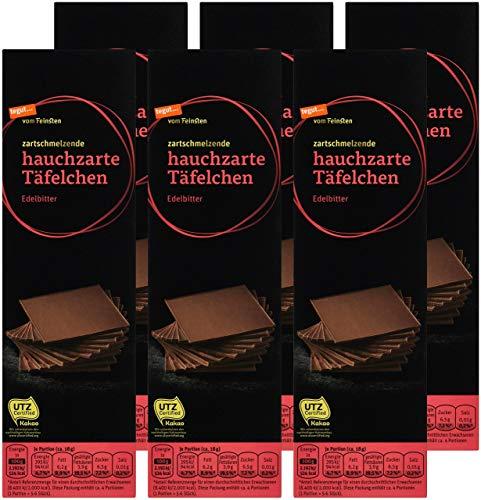 tegut... vom Feinsten Hauchzarte Täfelchen Edelbitter, 6er Pack (6 x 75 g)