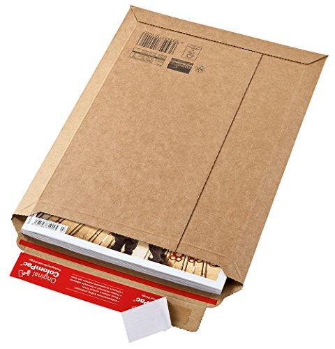 Versandtasche aus Wellpappe Karton mit Selbstklebeverschluss und Aufreissfaden | CP010.02 -Innenmaß 185x270x50mm | braun 100 Stück