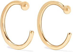 product image for Melissa Joy Manning 14k Gold Classic Hug Hoop Earrings