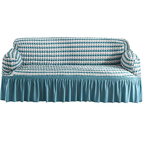 HXTSWGS Housse de Canapé d'angle,Living Room Sofa Cover, 1/2/3 Seat Solid Color Sofa Protection Cover, Sofa Seat Cover-Color2_90-140cm