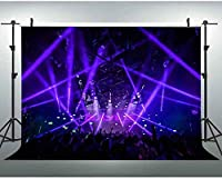 HD 7x5ftライブコンサートの背景スポットライトステージ写真背景カーニバルパーティー装飾ビデオ写真スタジオ小道具 669