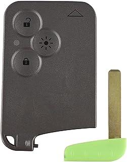3 botones de la tarjeta de control remoto caso de la cubierta del llavero Insertar pequeña hoja de la llave de la tarjeta ...