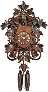 River City Clocks Eight Day Cuckoo Clock with Hand, Carved Vines and Leaves