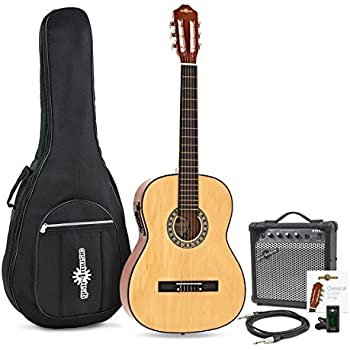 Guitarra Clasica Electroacustica de Gear4music Natural con ...