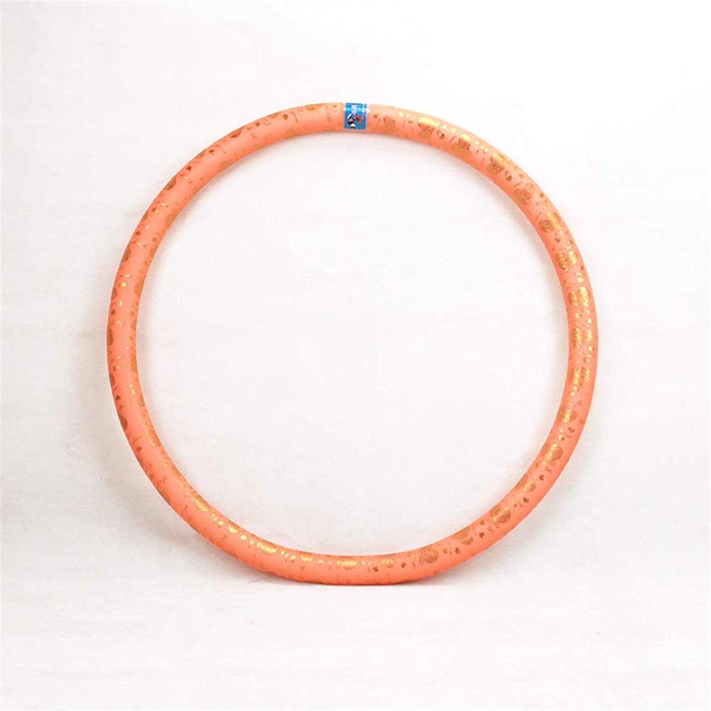 Hula-Hoop Gewichtete übung Hula-Hoop für Erwachsene Kinder Gewichtsverlust Fitness Hula-Hoop für übung Workout Tanzen für Jugendliche Erwachsene Ladies GYM Exercise ( Farbe   Orange , Gre   86cm )