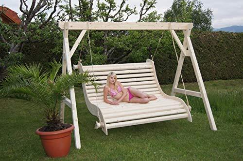 DEKO VERTRIEB BAYERN Premium Hollywoodschaukel Holz Massivholz Gartenmöbel Garten Schaukel