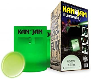 Kan Jam Illuminate Glow-in-The-Dark Game Set – Includes Two Glow-in-The-Dark Targets and One LED Glow Disc – Play Day or Night – Features Portable Construction
