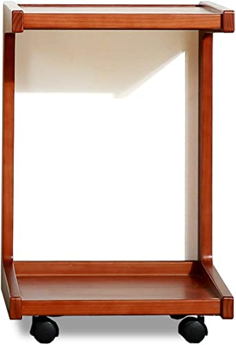 cómodamente BJYG Mesa Plegable Mesita de Madera Madera Madera Maciza Sofá Lateral Pocos Se Puede Mover Mesa de teléfono Escritorio de computadora Mesa de Centro (Color  MARRóN)  moda