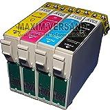 4 Reinigungspatronen für Epson 16 XL T1631, T1632, T1633, T1634 kompatibel zu Epson Workforce WF-2010W WF-2500 Series WF-2510 WF-2520 WF-2530 WF-2540 WF-2630 WF-2650 WF-2660 WF-2700 Series WF-2750 WF-2760
