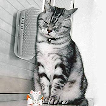 Leoboone Brosse de toilettage universelle pour animal de compagnie - Brosse pour enlever les poils de votre chat - Outil de toilettage d'angle