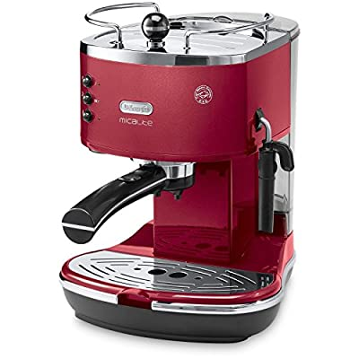 De'Longhi Icona Micalite ECOM311R Traditional Pump Espresso Machine - Red
