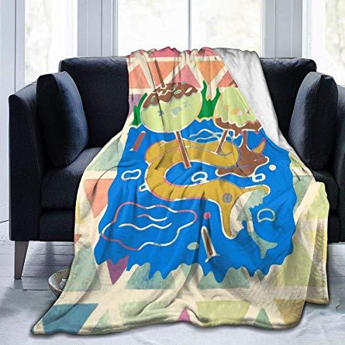 wobuzhidaoshamingzi Princess Bubblegum Rock Adventure Time Manta Micro Suave y cálida Impreso Art Cozy Blanket-436-MWQ