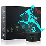 3D Night Light, LED Lamp for Kids, Soccer Toys for Boys, 7 Colors Touch Table Desk Lamps, Baby Bedroom Sleep Night Light, Birthday Party Holiday Gifts for Children