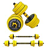Free Adjustable Weights Dumbbells Barbell Set 2 In 1,Weights Dumbells Set 22LB/33LB/44LB/66LB,Dumbbells Barbell Weights Pair With Connecting Rod for lifting, Non-Slip Handle, for Home Gym, Office 44LB