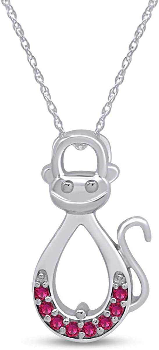 AFFY Infinity Nashville-Davidson Mall Monkey Pendant Necklace in Over Super-cheap Gold Ste White 14K