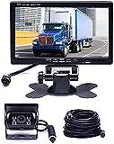 """Hikity Cámara de Marcha atrás y Kit de Monitor, A Prueba de Agua 18 IR LED de Visión Nocturna Cámara de Respaldo + 7"""" TFT Monitor de Vista Trasera Sistema de Aparcamiento de vehículos para RV Bus"""
