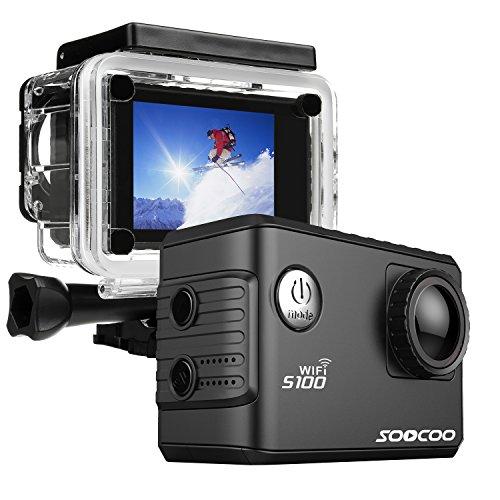ONEU Action Cam,20MP 4K Action Camera Full HD 1080P Fotocamera con Wifi GPS Function,30M Impermeabile 170°Grandangolare Videocamera,2 pollici Sport Action Camera per Ciclismo Nuoto e altri Sport Esterni (Nero)