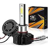 Pulilang H1 Bombillas LED para Faros Delanteros, COB Chips, 60W 12000LM 6500K IP65, Bombillas LED para Coche, 2 bombillas
