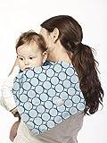 SwaddleDesigns Baby Burpies, Set of 2 Cotton Burp Cloths, True Blue Jewel Tone Mod Circles