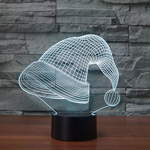 Weihnachtsmütze Form Nachtlicht Weihnachtsserie bunte 3D Nachtlicht kreative elektronische LED Nachtlicht Hauptdekoration