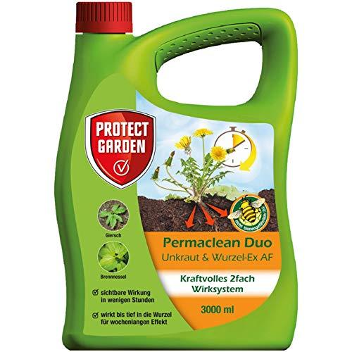 SBM Protect Garden Permaclean Duo Unkraut & Wurzel Ex, anwendungsfertiger Unkrautvernichter mit Zweifachwirkung, Sparpack 3 x 3 Liter Plus Zeckenzange mit Lupe