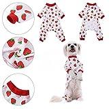 Ropa para perros Camisa para perros Pijamas de algodón de patrón de noche de dormir vestido de noche Pijama de gato ropa de mono por Awhao S