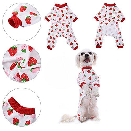 awhao Ropa para Perros Camisa para Perros Pijamas de algodó