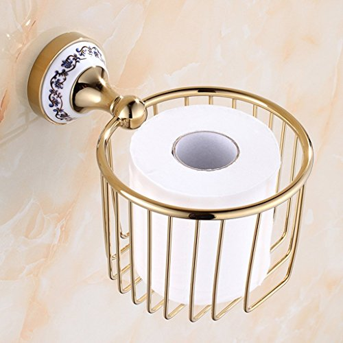 Gulakey Shelf of Tissue Tissue Holder European Basket Bathroom Shelf Toilet paper holder Wall-mounted