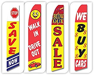 Used Cars Flag Windless Swooper 4 Lot Set Auto Save Walk In Drive Sale We Buy