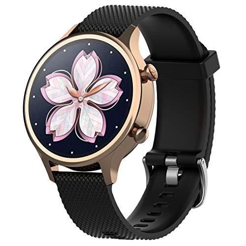 Disscool vervanging banden voor TicWatch C2 Rose goud, 18mm zachte siliconen riem voor TicWatch C2 Fitness smartwatch