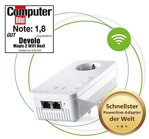 Devolo Magic 2-2400 WiFi AC Next Single Adapter - Adaptador de...