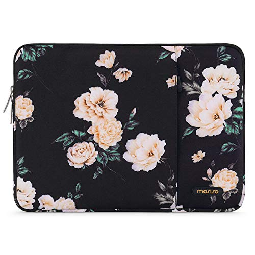 MOSISO Tablet Sleeve Case Compatible with 9.7-11 inch iPad Pro, iPad 7 10.2 2019, iPad Air 3 10.5,iPad Pro 10.5,Surface Go 2018,iPad 3/4/5/6,Water Repellent Polyester Vertical Pocket Bag,Apricot Peony